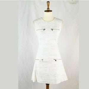 Banana Republic Space Dye Ponte Zip Aline Dress